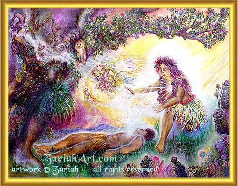 Hi'iaka Doing Healing Work Zariahart.com
