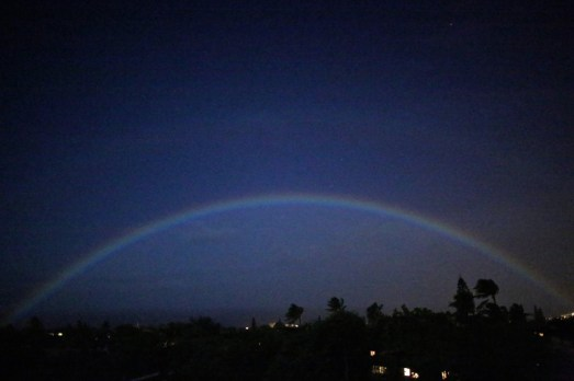 The Rainbow after the Ordination Ceremony that stayed the Night;) and became a MoonBow