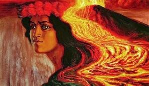 Madame Pele: Sacred Lehua Plant: meaning of lehua is twisted by fire.
